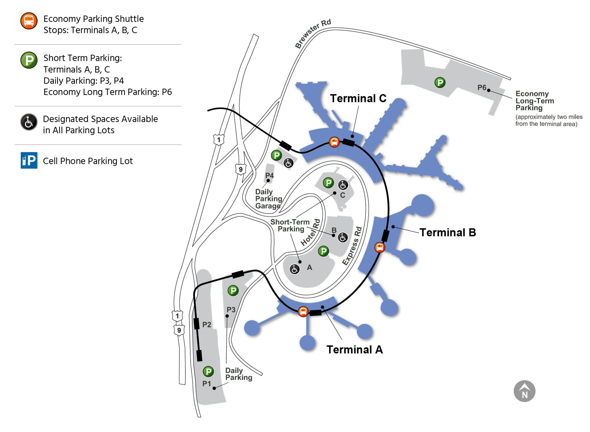 Ewr Liberty Airport Map Pickup, and Drop off   EWR   Newark Liberty Airport